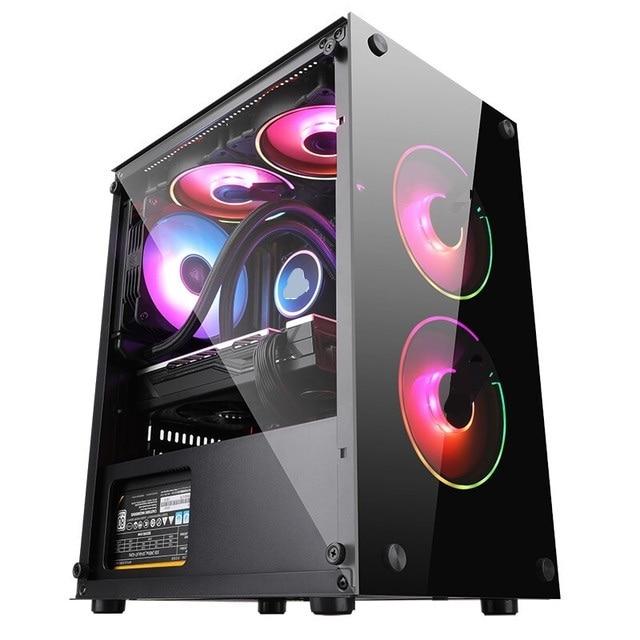 Hot sale mini-Gaming PC GTX1050/GTX 750   8G 120G SSD Desktop Computer HDMI/VGA LOL/CSGO/DOTA For Gamers Computer