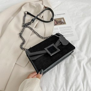 Belt Buckle Design PU Leather Crossbody Bags For Women 2020 Mini Shoulder Simple Bag Female Travel Handbags Simple Style bolsa
