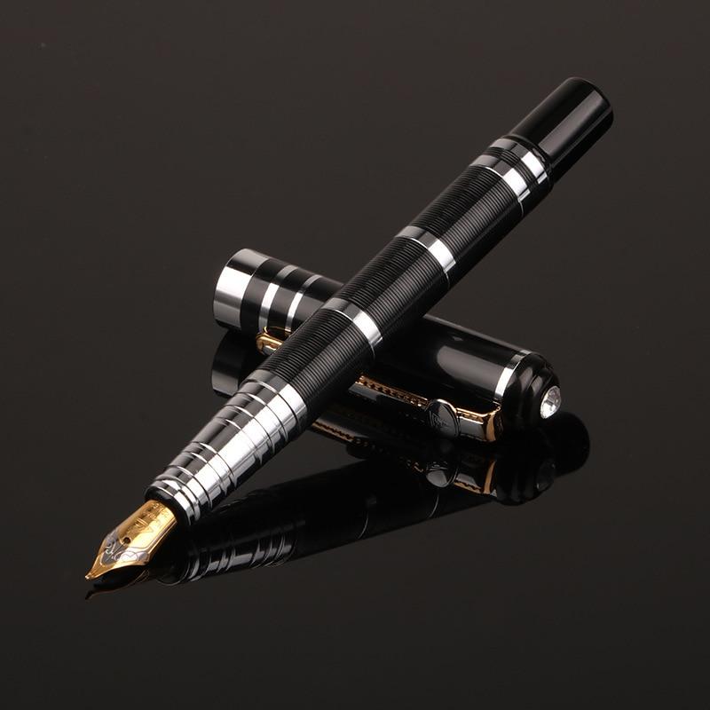 1 Pcs Luxury Business Fountain Pen Gift Metal Pens Design School Office New Black Writing High Quallity Write