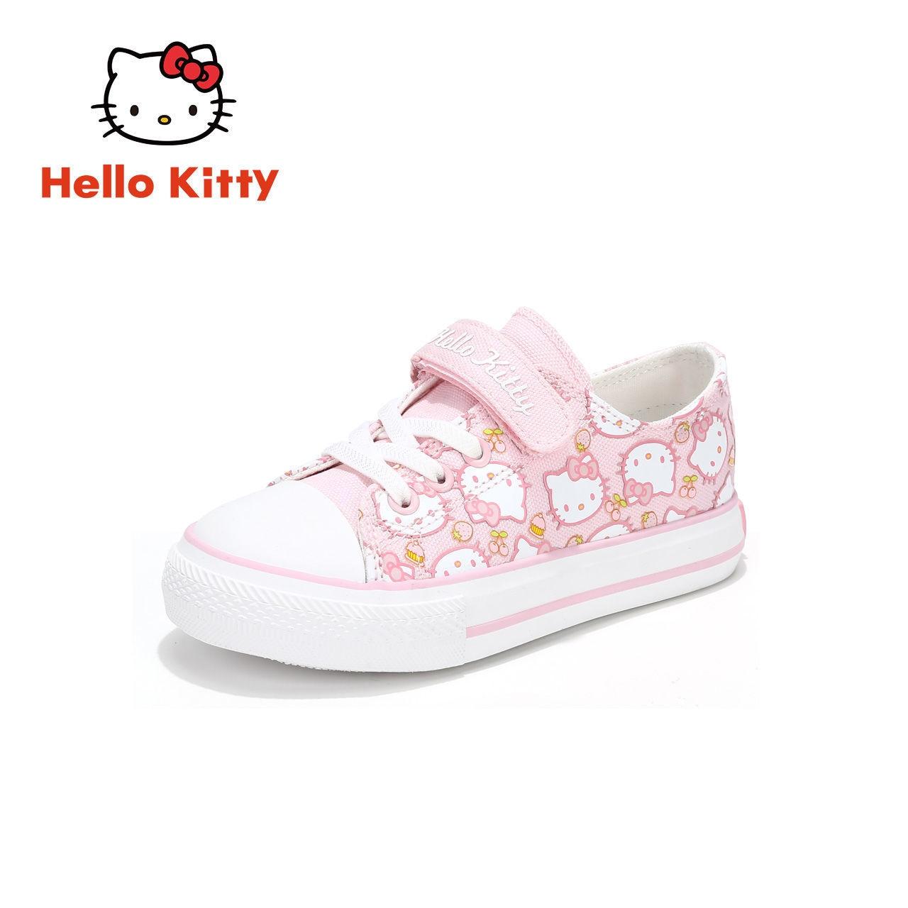 مرحبا كيتي ربيع الموضة الجديدة 2021 حذاء قماش شخصية بسيطة عدم الانزلاق الأطفال لطيف حذاء كاجوال