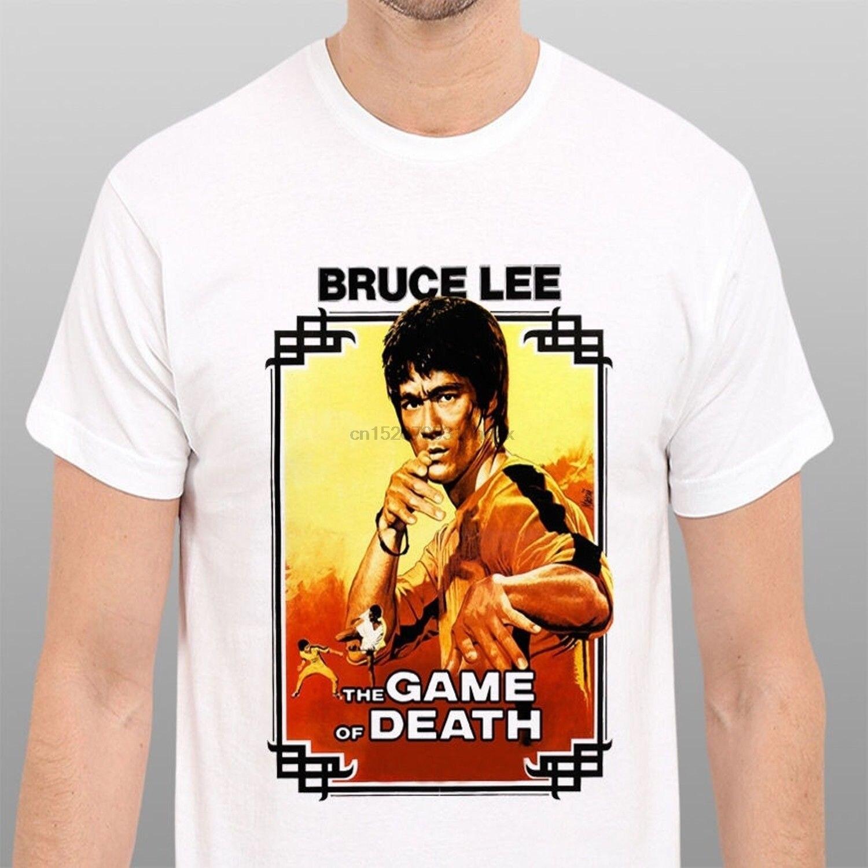 Bruce lee jogo da morte vintage filme poster ment-camisa masculina todo o tamanho limitada t camisa