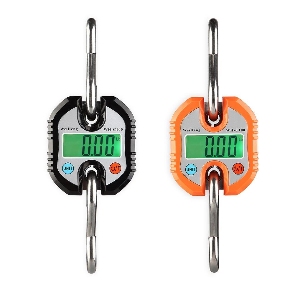 Báscula Digital de peso pesado WH-C100 portátil de pesca de caza Balanza de gancho electrónica colgante Mini grúa báscula herramientas de peso