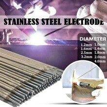 5/10/20 pièces soudure délectrode de baguette de soudure dacier inoxydable pour souder 304 fils de soudure diamètre 1.0mm-4.0mm