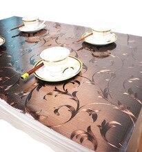 Nappe à motifs dhuile de cuisine   Nappe transparente en PVC imperméable, nappe en verre de qualité, tissu doux 1.0mm
