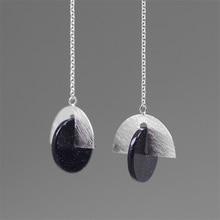 INATURE 925 en argent Sterling coquille blanche grand cercle boucles doreilles goutte pour les femmes bijoux de mode