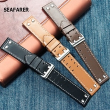 Genuine Leather Watch Band For Hamilton Khaki Field Watch h760250 h77616533 Watchband  Seiko Watch S