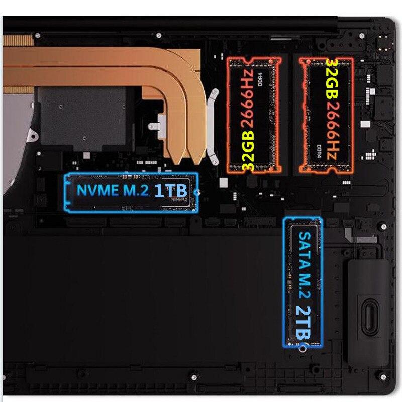 M.2 NVME SSD Gold AMD RAM 32GB 2TB SSD Ultrabook Metal 2.4G/5.0G Bluetooth AMD Athlon Gold 3150U Windows 10 Pro 15.6inch Laptop
