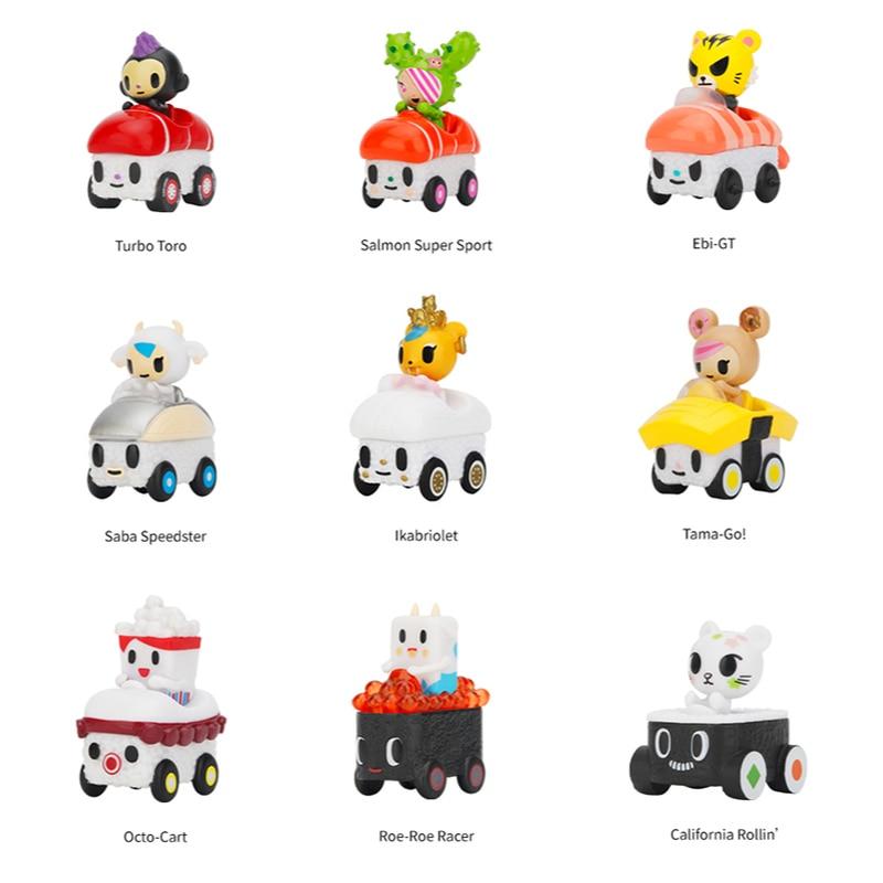 Original Tokidoki Mini Sushi Cart Family Blind Bag Gift Trend Toy Mini Cute Doll Collections