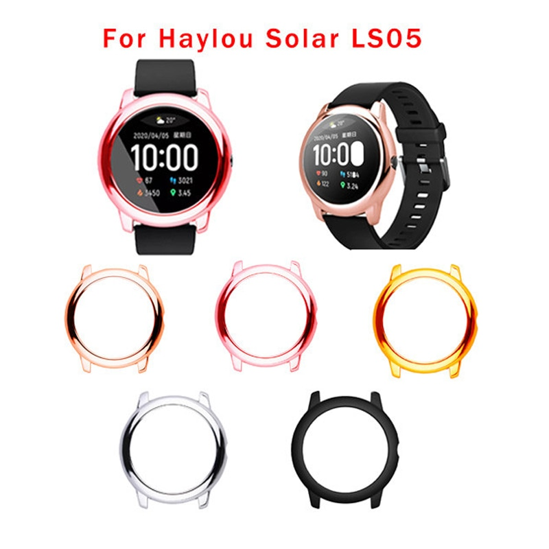 Upscale PC Watch Case Full Cover Protective Shell Screen Protector Case For Xiaomi Haylou Solar LS05 Smart Watch Accessories