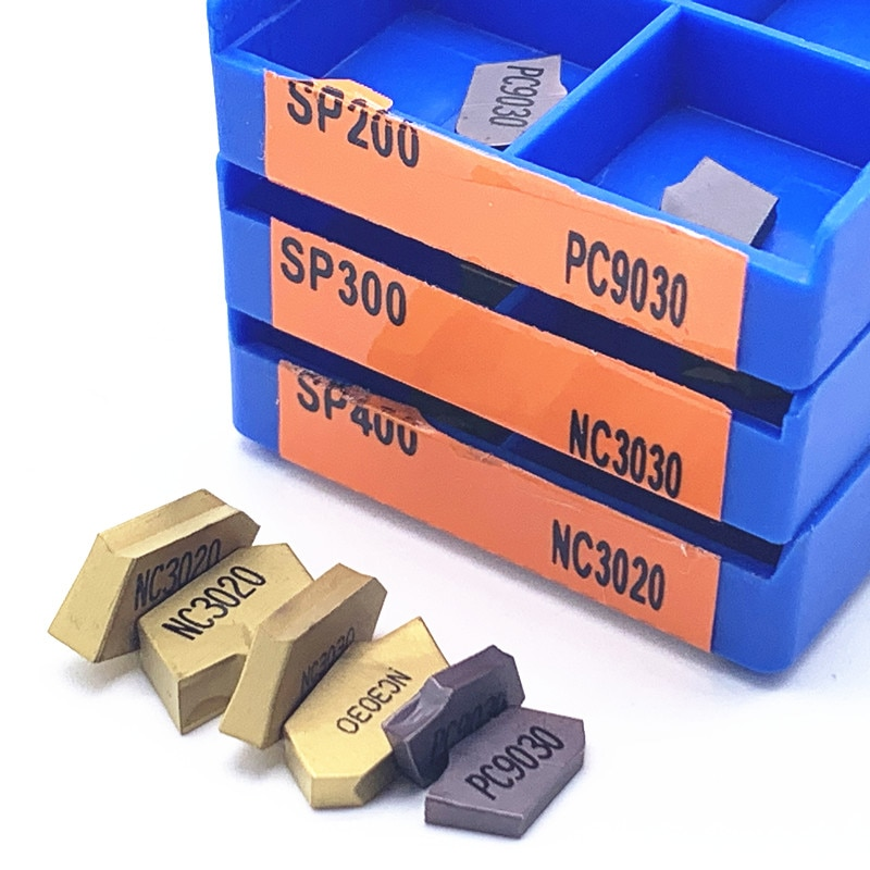grooving inserts SP200 SP300 SP400 PC9030 NC3020 NC3030 grooving carbide inserts SP 300 lathe tools turning insert