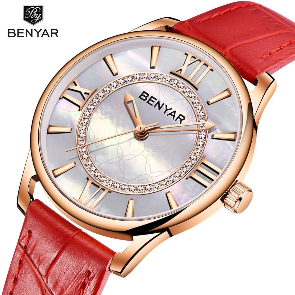 Benyar New Watch Female Simple Small Fresh Quartz Female Watch Waterproof Ladies Watch Women Watches Simple Watch Diamond Watch enlarge