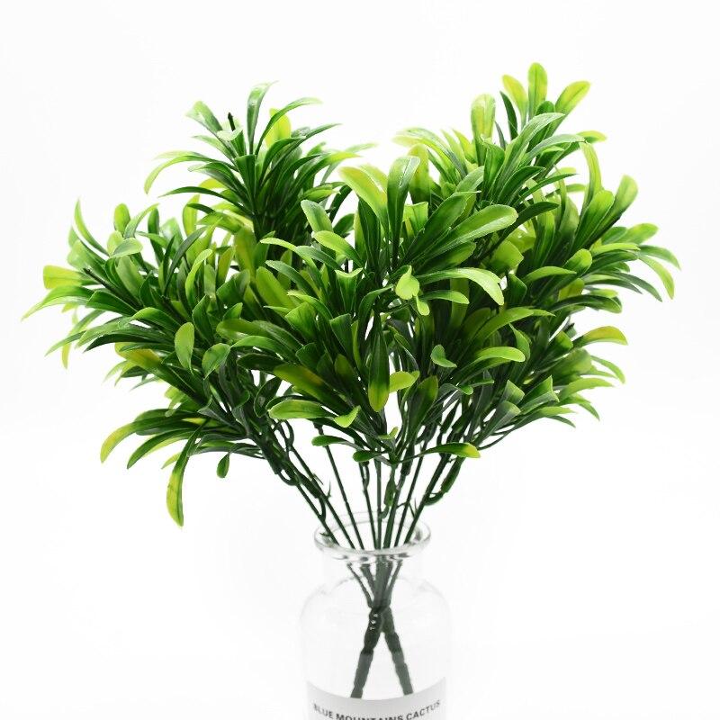 1 lot de plantes artificielles   vases muraux de décoration de fond de mariage, herbe verte, fleurs scrapbook décoratives pour décoration de maison