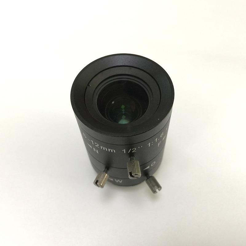 3 مليون HD الصناعية كاميرا عدسة التكبير 6-12 مللي متر 1/2 C ميناء Distortionless CCD كاميرا الرؤية
