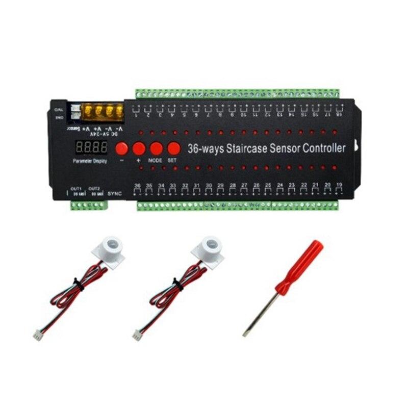 LED محس حركة أضواء لدرجات السلم قطاع تحكم يعتم داخلي الحركة 12 فولت مرنة LED قطاع خطوة الدرج مصباح تشغيل