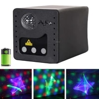 10w rgb aurora starry sky mini projector rechargeable led night lamp magic ball laser light home car party effect lighting gift