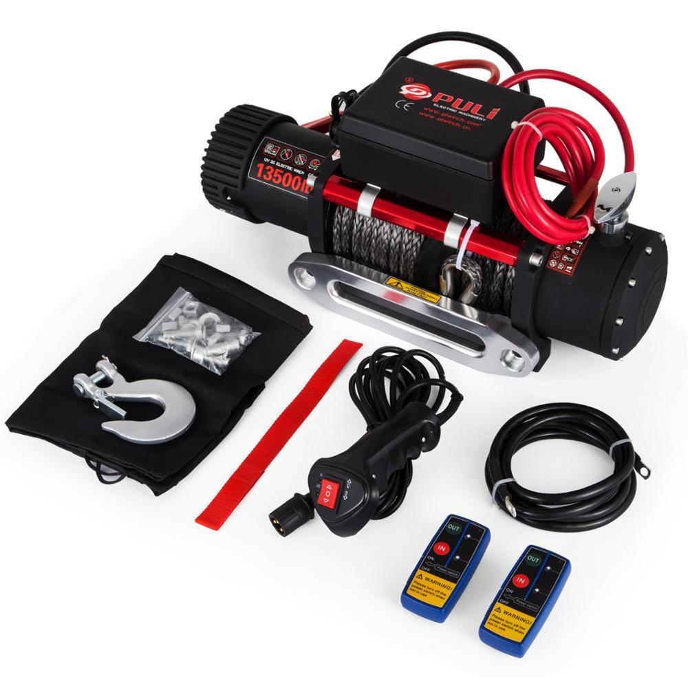 VEVOR Cabrestante de Recuperación 6120KG Cuerda Eléctrica del Torno12v con Control Remoto para ATV UTV