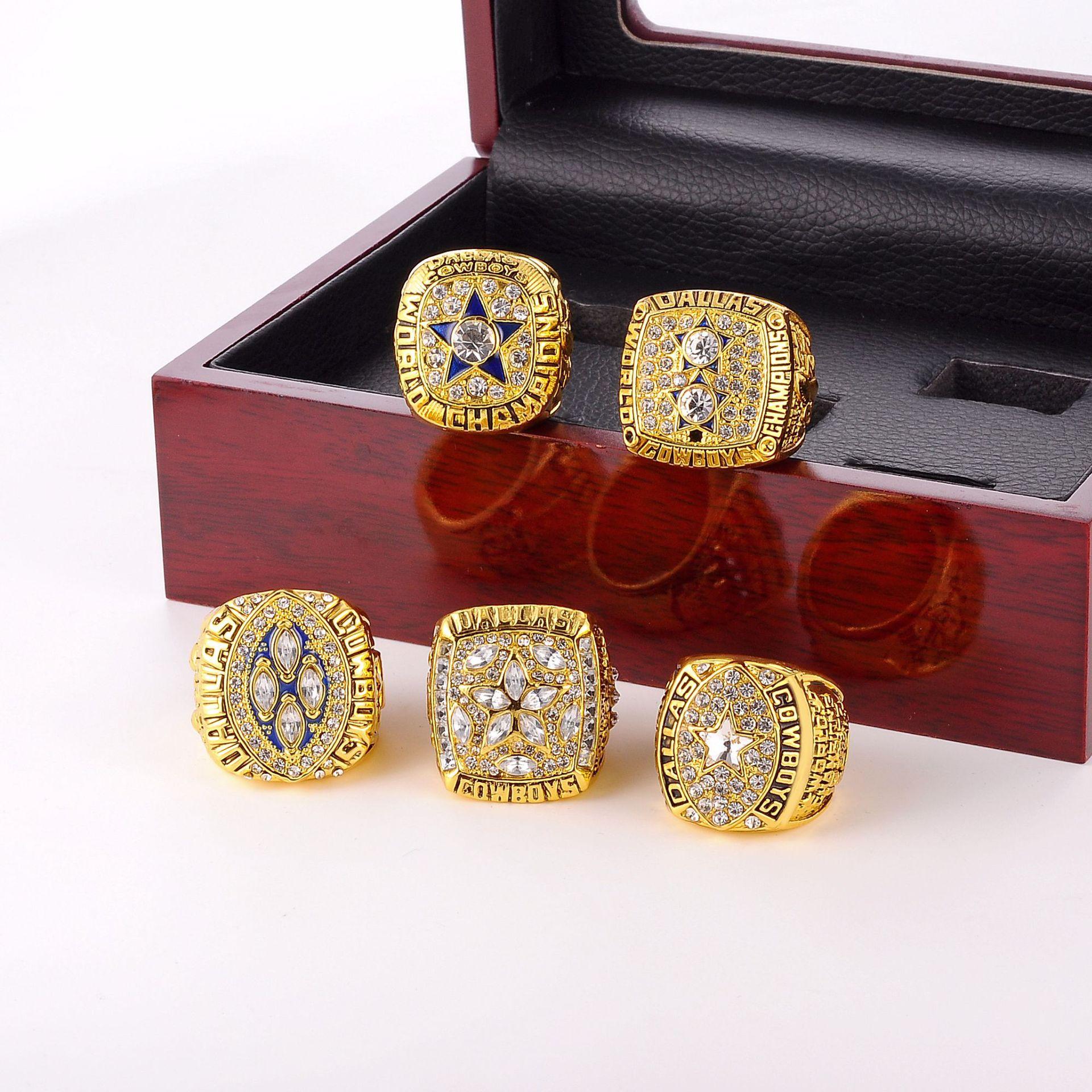 رائجة البيع السلطانية دالاس كاوبوي فريق خاتم البطولة بدلة رجالية مجوهرات مع صندوق عرض