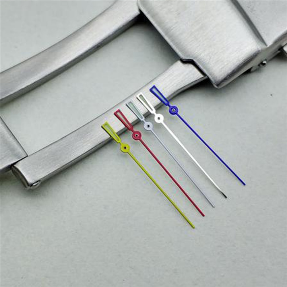 Reemplazo creativo luminoso segunda mano reloj manos para NH35 4R/6R/7S reloj movimiento pieza de reparación