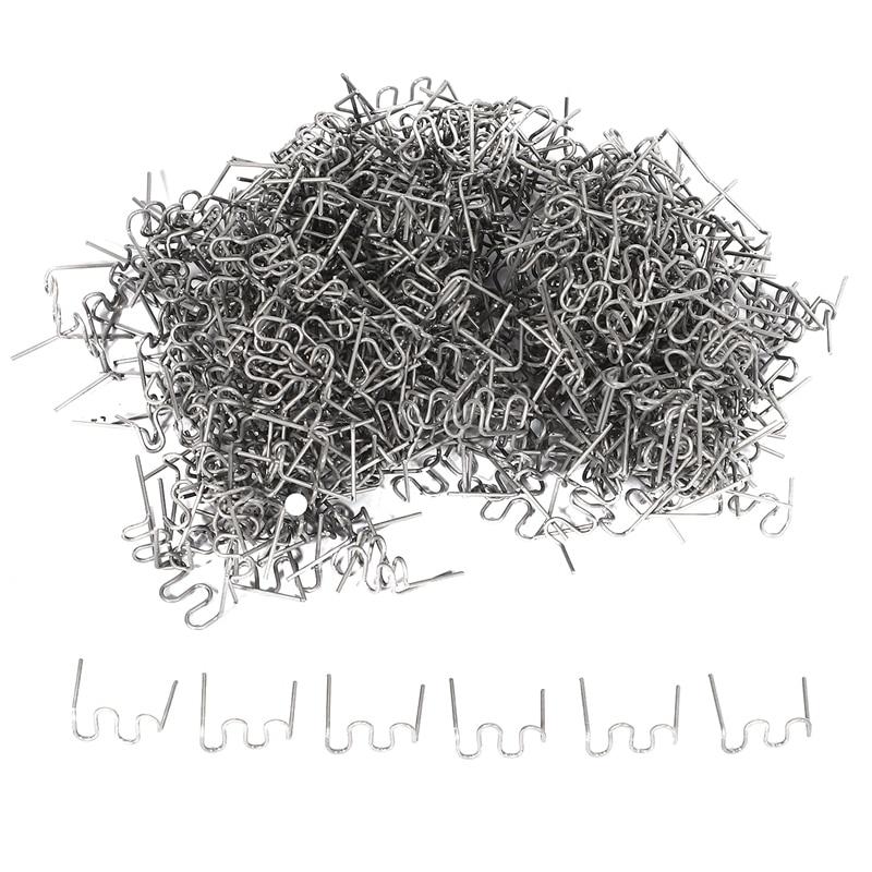 1000Pcs Staples for Hot Stapler Plastic Repair Wave Staples Bumper Bodywork Repairs 0.8mm S Wave Sta