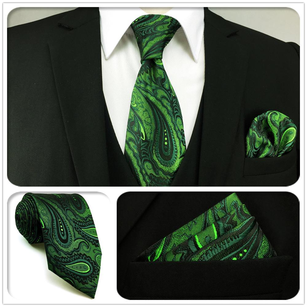 U30 очень длинные темно-зеленые черные галстуки Пейсли для мужчин шелковые узкие бабочки для свадебной вечеринки Галстуки