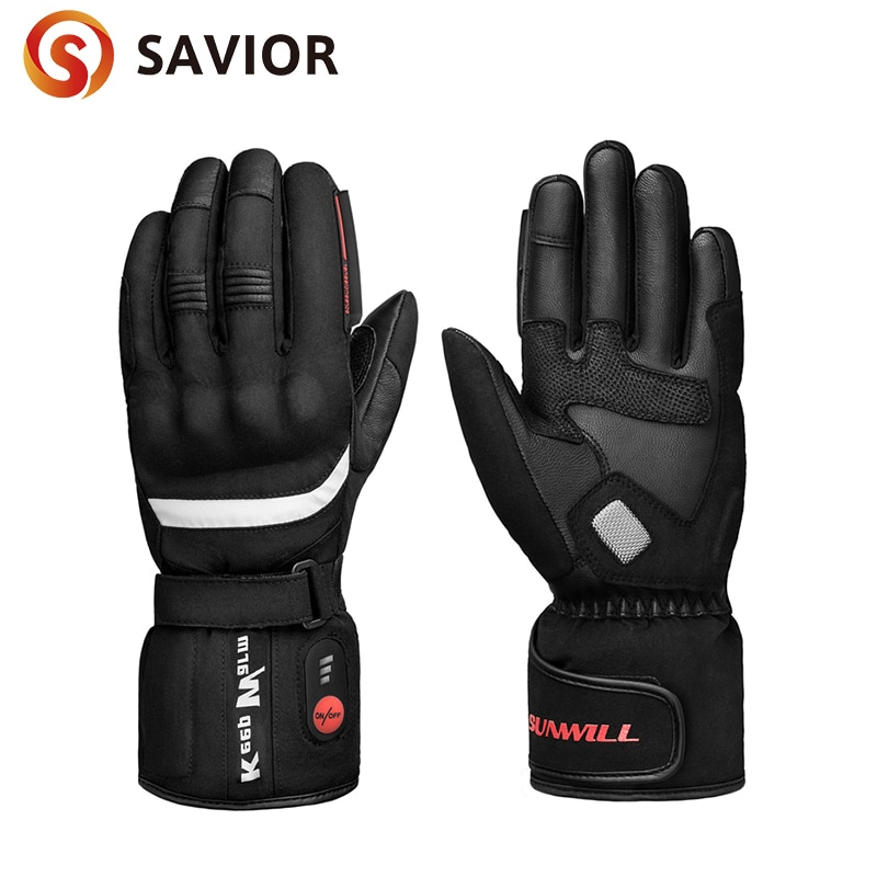 Motorcycle Electric Heated Gloves Rechargeable Battery Thermal Hands Warmer for Skiing Motorcycle Riding Fishing