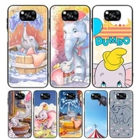 circus dumbo for xiaomi poco x3 nfc m3 m2 x2 f3 f2 pro c3 f1 mi play mix 3 a2 a1 6x 5x black soft phone case