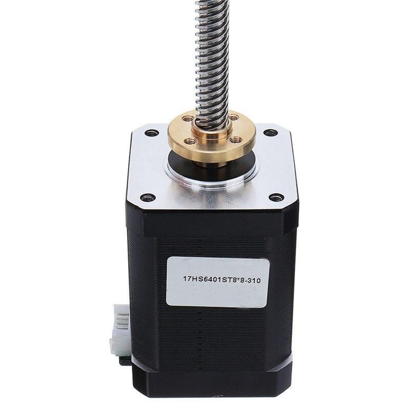 17HS6401-S T8x8 Nema 17 Lead Screw Stepper Motor Linear Actuators 60mm 4-lead 42 Motor 100-500mm Trapezoidal Lead Screw