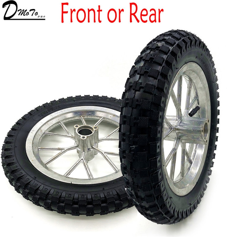 One Rims+Tyres 12.5 x 2.75 Rear Wheel Or Front  Wheel  47 49cc Mini PIT Monkey Pocket Dirt Bike
