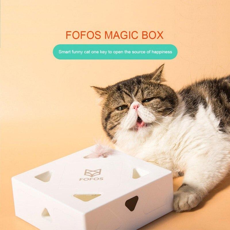 Gato inteligente gato divertido Caja Mágica interactivo pluma divertido palo para gato juguete mascota producto l