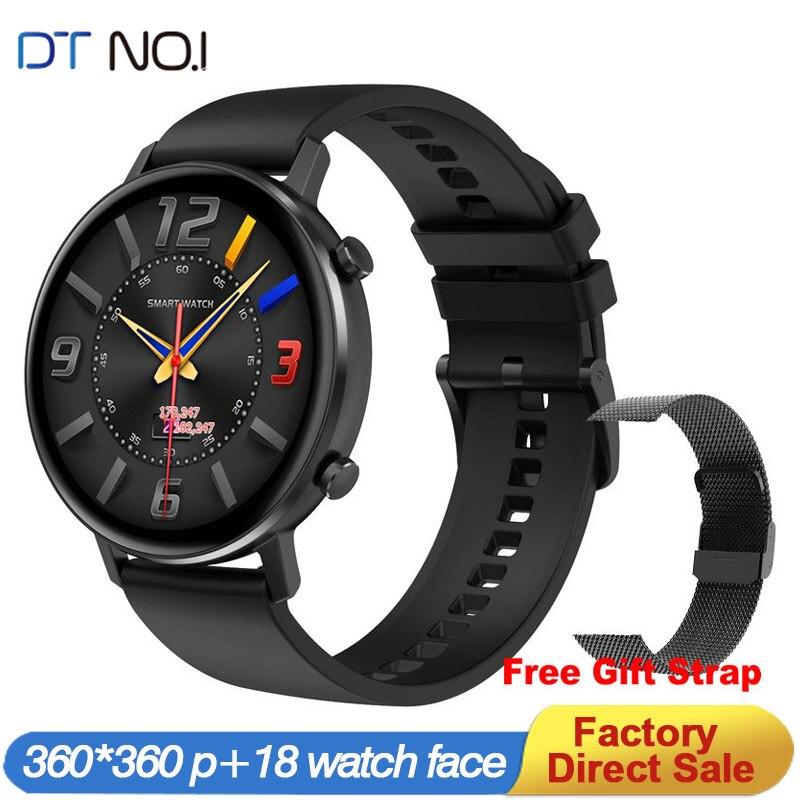 Relógio inteligente mulher dt96 smartwatch multi sports fitness rastreador monitor de freqüência cardíaca pressão arterial oxigênio 360*360 vs dt88 sg2 s20 Relógios inteligentes    -