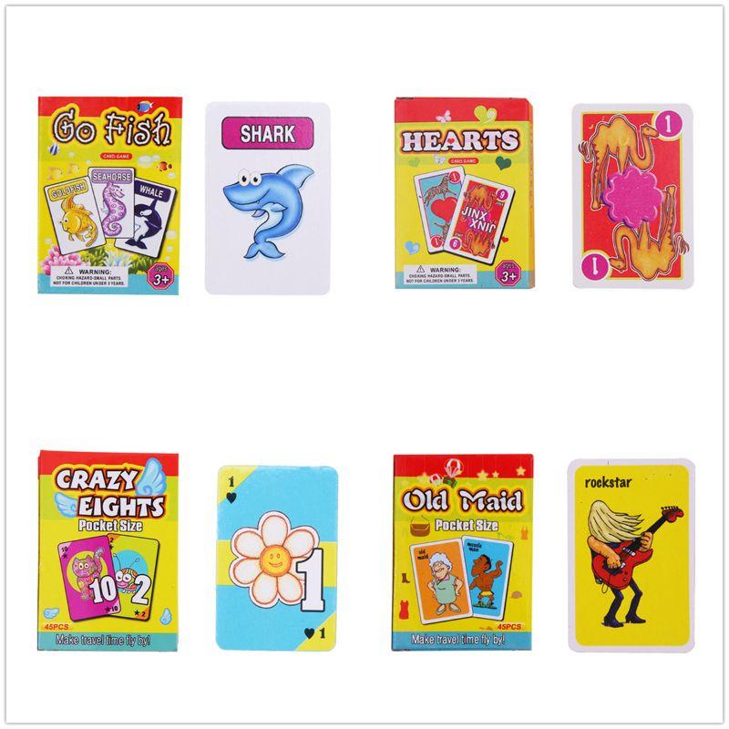 Conjunto de jogos de cartas para crianças-empregada doméstica, peixe, corações, oitos loucos festa de família favor 72xc