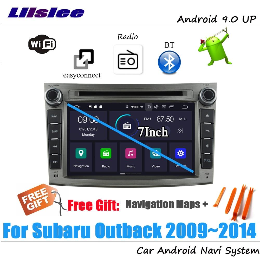 Liislee Android 9 4 + 32G для Subaru Outback 2009 ~ 2014 стерео автомобиля видео Carplay GPS Navi карта навигационная система Мультимедиа