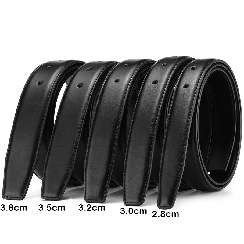 2.8cm 3.0cm 3.5cm 3.8cm Belt No Buckle for Automatic Buckle High Quality PU Leather Belts Strap With