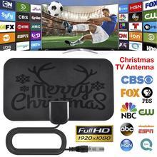1225 millas 1080p HDTV antena Navidad Mini HD Digital TV Antena para Navidad