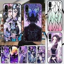 Demon Slayer Kochou Shinobu Phone case For Huawei P Mate P10 P20 P30 P40 10 20 Smart Z Pro Lite 2019