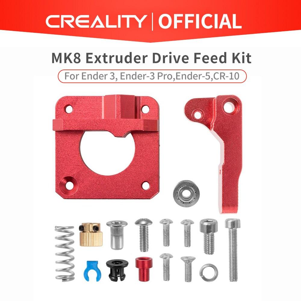 CREALITY 3D Rot Metall MK8 Extruder Aluminium Legierung Block Bowden Extruder 1,75mm Filament Für CREALITY 3D Drucker