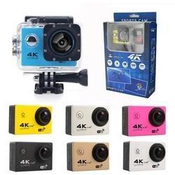 F60r 4 k wifi câmera de ação 16mp 170d esporte dv 30 m à prova ddv água pro esportes radicais vídeo bicicleta capacete do carro cam