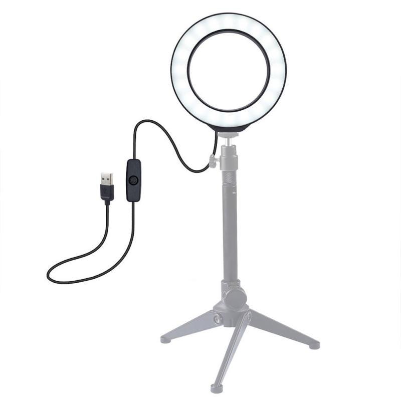 Puluz 4.7 polegada 12cm usb led anel vlogging fotografia vídeo luzes selfie anel luz regulável led anel lâmpada para transmissão ao vivo