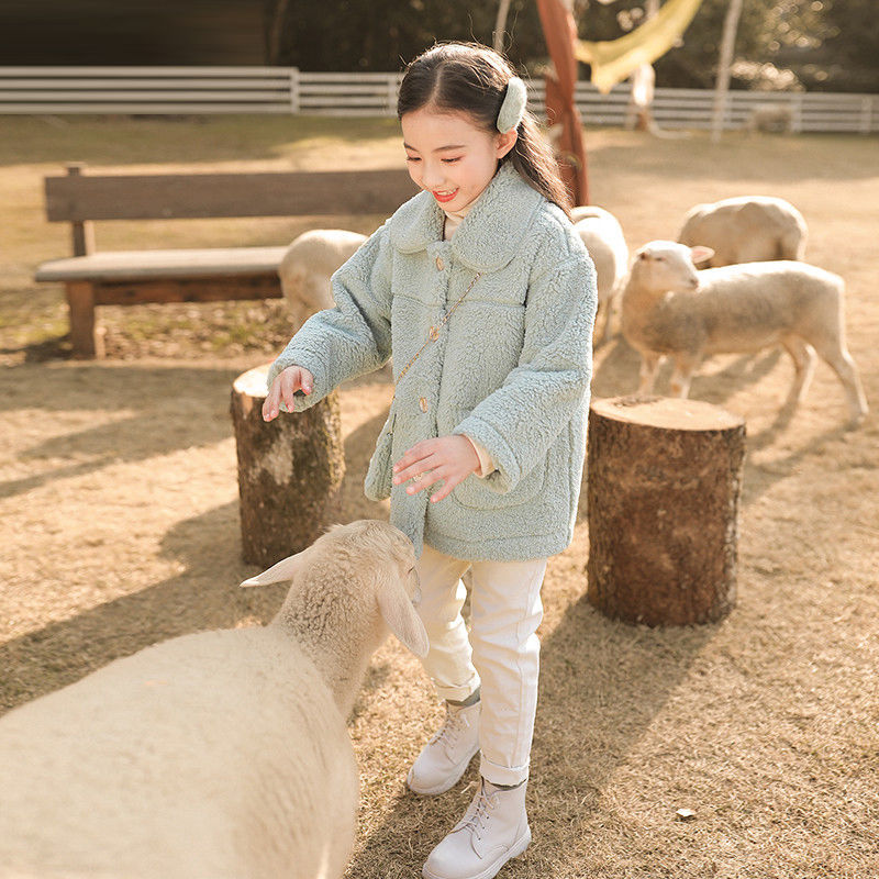 2021 Winter Children Girls Jacket Faux Fur Girls Coat Thicken Warm Jackets For Girls Christmas Clothes Casual Kids Outwear D117 enlarge