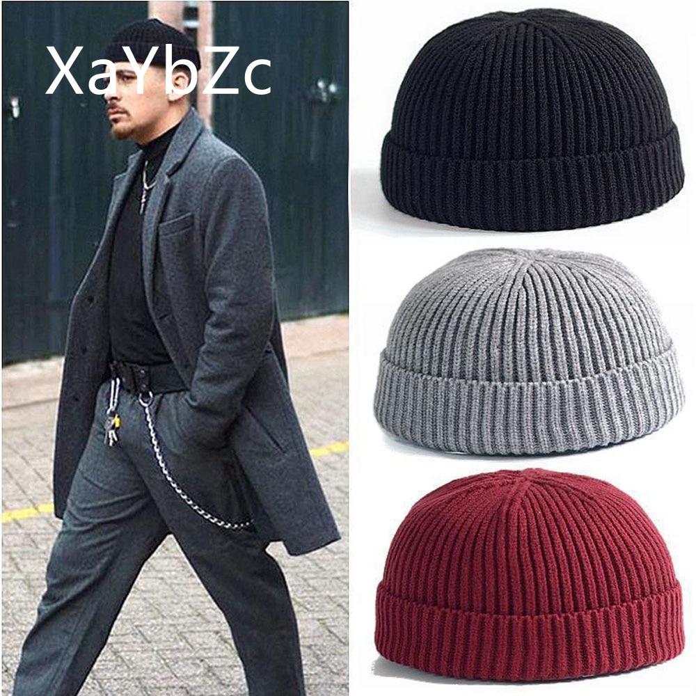 Зимняя вязанная теплая шапка для хип-хопа унисекс
