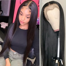 Missanna 30 32 inch Straight Lace Front Human Hair Wigs 13X6 Lace Frontal Wig Brazilian Straight Lac