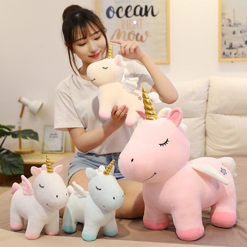 Nice Huggable Nice Kawaii Unicorn Plush Toy Fat Doll Cute Animal Stuffed Soft Pillow Baby Kids Toys For Girlfriend Birthday Gift  - buy with discount