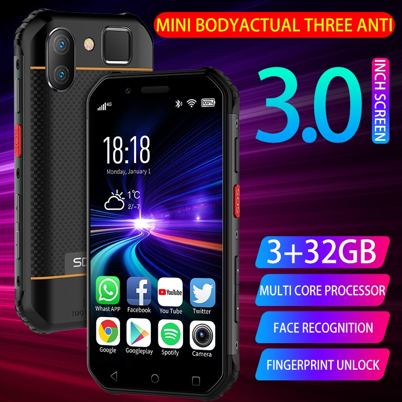 UNIWA M31 IP68 Waterproof Mobile Phone 3G 32G Android 6.0  Cellphone Quad Core Pocket Size Smartphone PTT NFC Button 1900mAh SOS