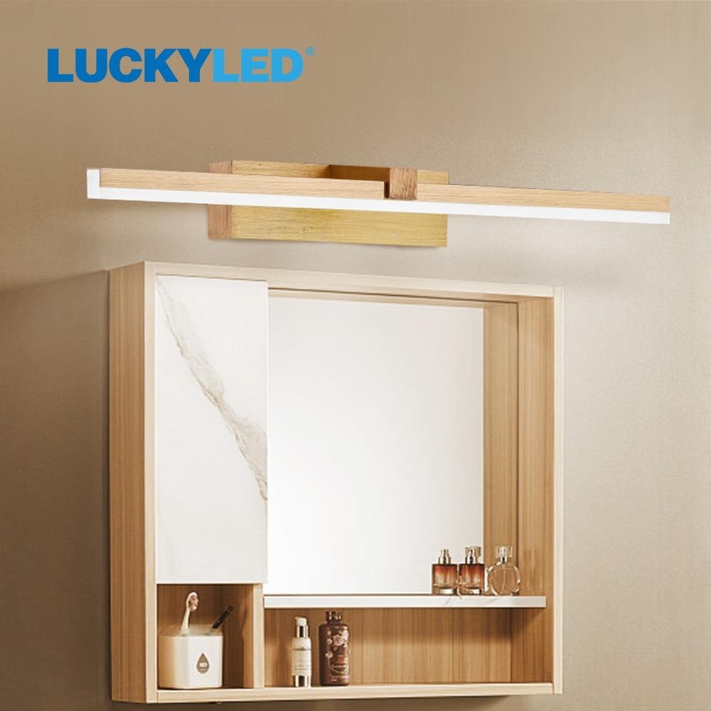 محظوظ وحدة إضاءة LED جداريّة مصباح مرآة حمام ضوء 220 فولت 110 فولت 8 واط 12 واط وحدة إضاءة Led جداريّة ضوء مقاوم للماء تركيبات إضاءة الغرور ل غرفة الم...