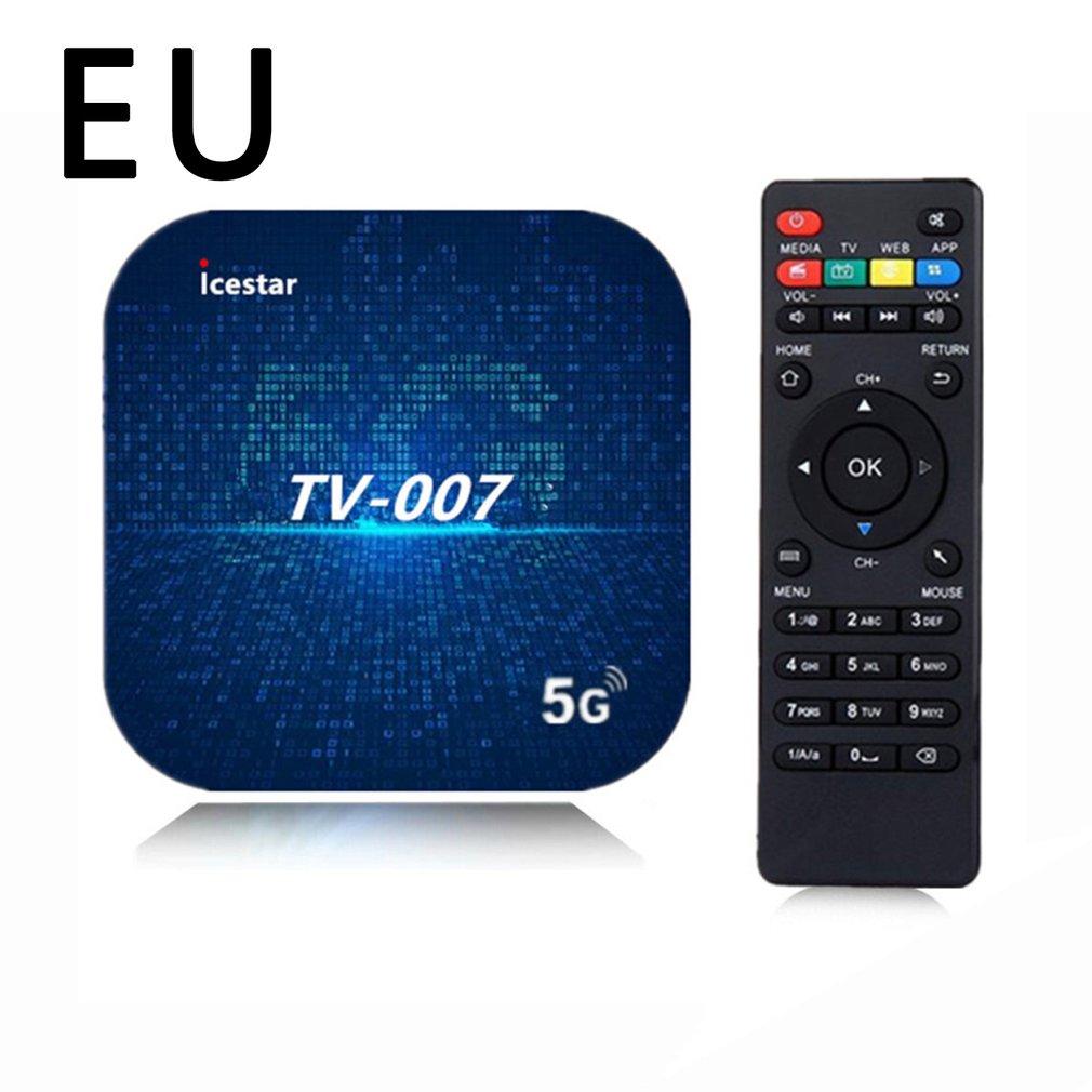 TV007 صندوق التلفزيون الذكية 4k 5G واي فاي الذكية رباعية النواة شبكة لاسلكية فك التشفير صندوق مزدوج التردد التلفزيون الرقمي فك التشفير