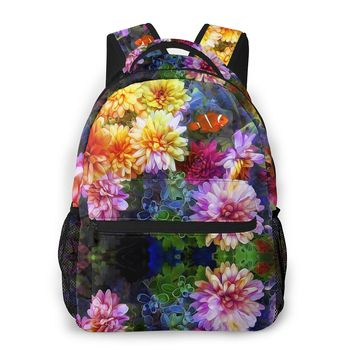 Рюкзак OLN женский школьный, многофункциональный ранец с 3d рисунком, дорожная сумка для девушек
