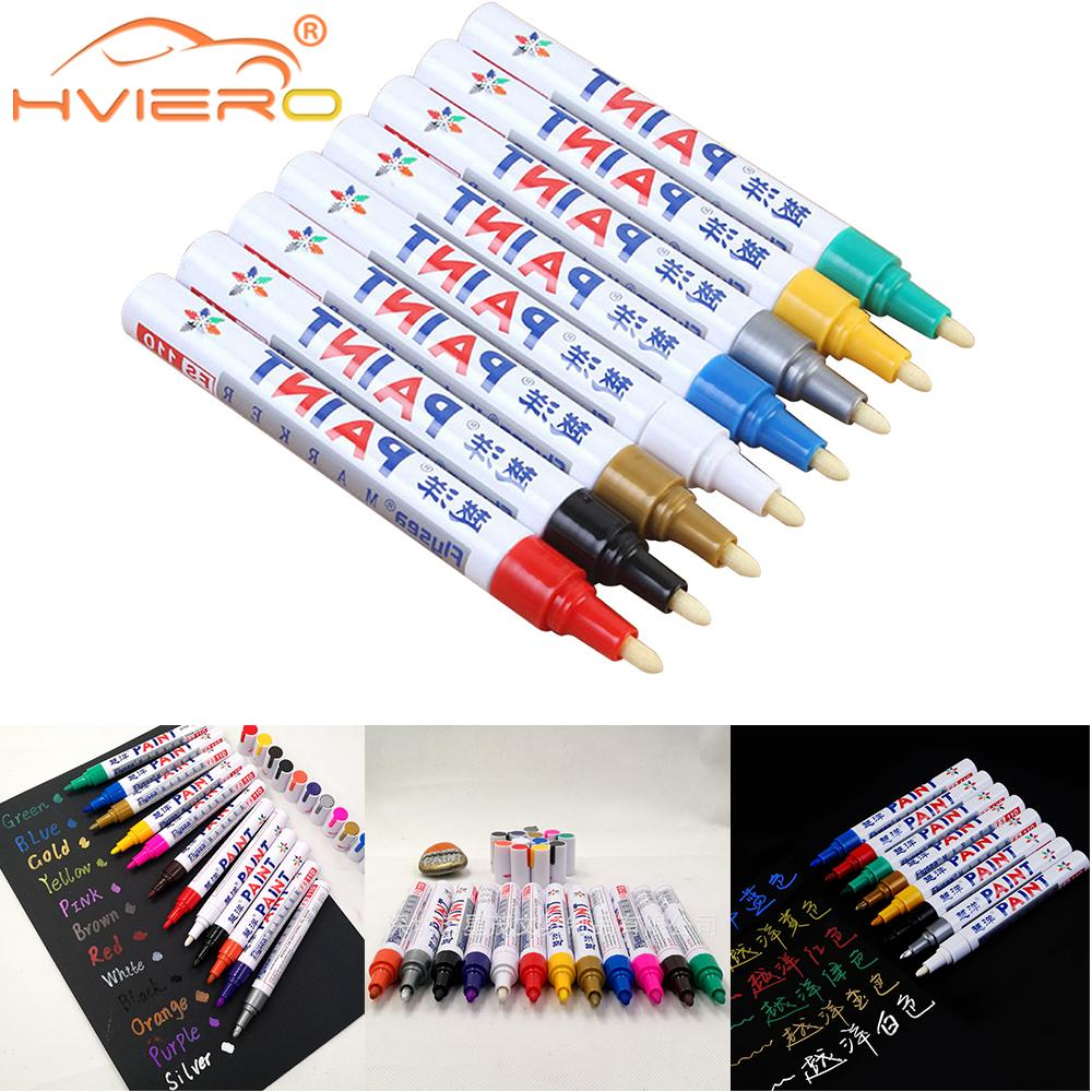 7 цветов полировка воском губка для краски маркер краски ручки Перманентный водостойкие шины для автомобилей Рисование масляная Ручка Очис...