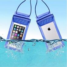 Men Women Outdoor Mini Swimming Waterproof Case Bag Underwater for Phone iphone 8 plus 7 Colors