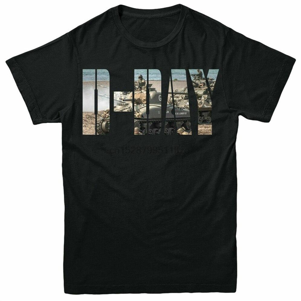 D-día 75 playera aniversario Normandía Ww2 Airborne adultos niños camiseta superior de gran tamaño