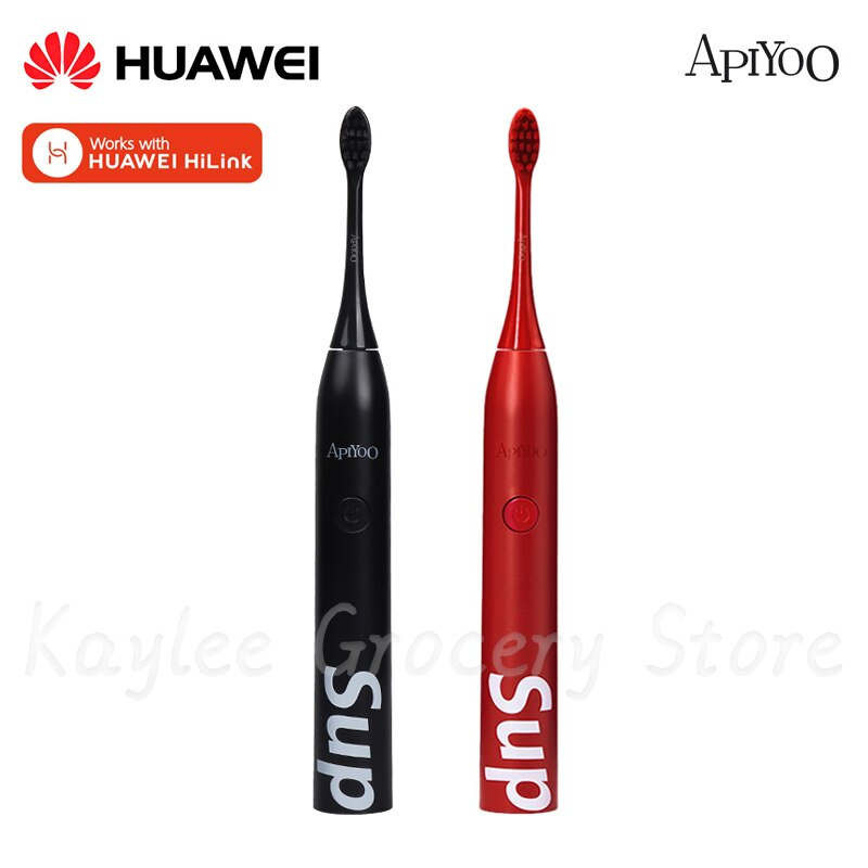 HUAWEI Hilink Apiyoo Sonic Electric Toothbrush Wireless USB Rechargeable Waterproof 5 Mode Red/Black Electric Toothbrush
